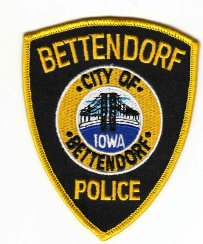 BETTENDORF IOWA IA POLICE SHOULDER PATCH
