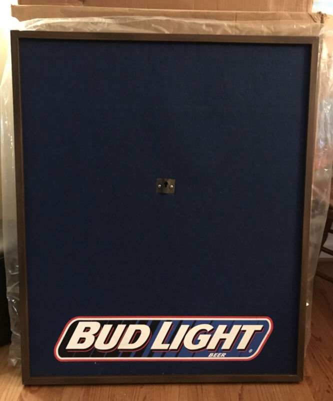 Vintage Nos Bud Light Beer Dart Board Backboard Wall Protector Man Cave Bar