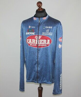 Carrera Blue Jeans cycling team light jacket Nalini Size XL/XXL 1996