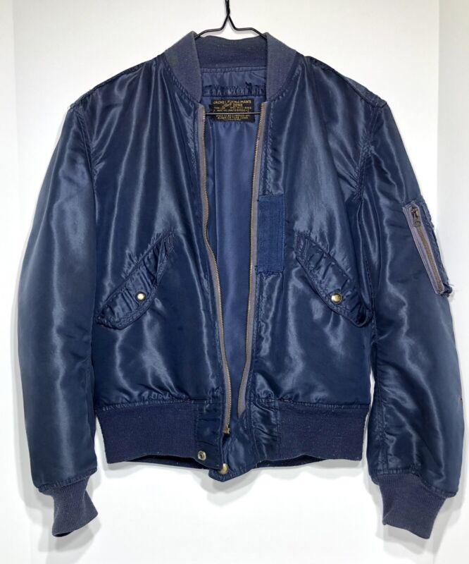 Vintage 50s L-2A Blue USAF Bomber Pilots Jacket RARE NICE Air Force Korean War