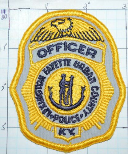 """KENTUCKY, LEXINGTON FAYETTE URBAN COUNTY POLICE OFFICER 3.5"""" SMALL HAT PATCH"""