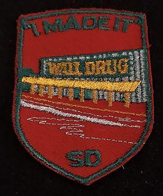 I MADE IT WALL DRUG Vintage Patch Wall SOUTH DAKOTA Souvenir Travel VOYAGER