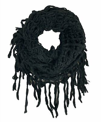 Steve Madden Rag-a-Muffin Infinity Scarf, Black, One Size
