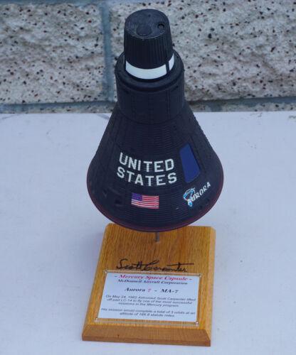 Mercury Space Capsule Aurora 7 Model Signed by Astronaut Scott Carpenter NASA