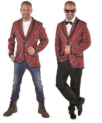 Disco Jacke Anzug Kostüm Herren Jacket Party Hippie 50er Jahre Hippy Rock`n - Roten Anzug Jacke Kostüm