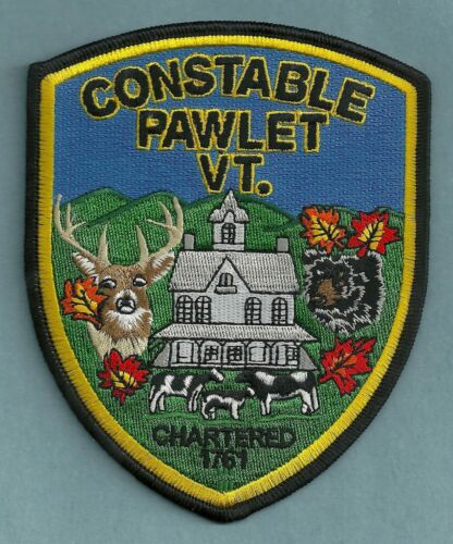 PAWLET CONSTABLE VERMONT POLICE SHOULDER PATCH