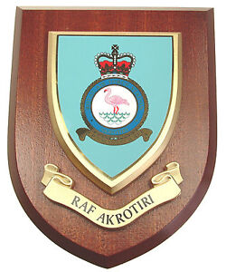 RAF ROYAL AIR FORCE STATION AKROTIRI CLASSIC STYLE HAND MADE MESS PLAQUE