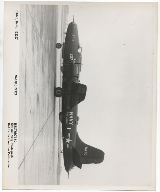 1949 Restricted US Navy Photograph of Patuxent Airplane