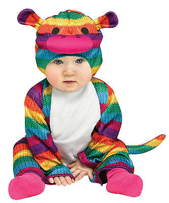 Fun World Rainbow Sock Monkey Infant  12-24 Months Colorful Costume (Sock Monkey Baby Costume)