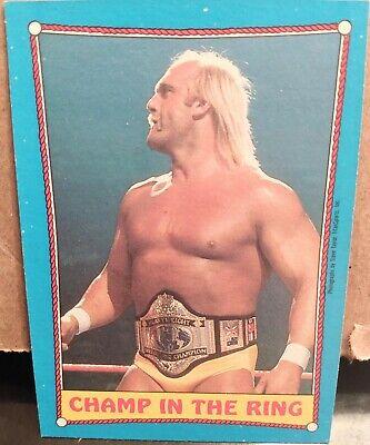 Hulk Hogan 1987 Topps WWF RA Card #37 Ringside Action Champ in the Ring WWE Star