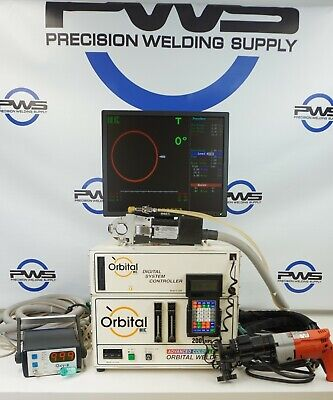 Mk Orbital Welding Tube System Acl 6001c Weldhead W Facing Tool Gtaw Controller