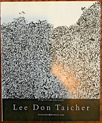 Lee Don Taicher artist gallery exhibition ad 2007 vintage art magazine print