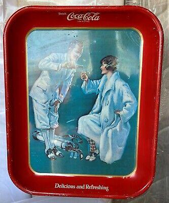 Vintage Coca Cola Tray - golf theme