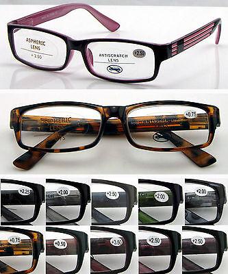 L176 Stylish Unisex Reading Glasses/Spring Hinges Design/9 Colors & 15 Strengths