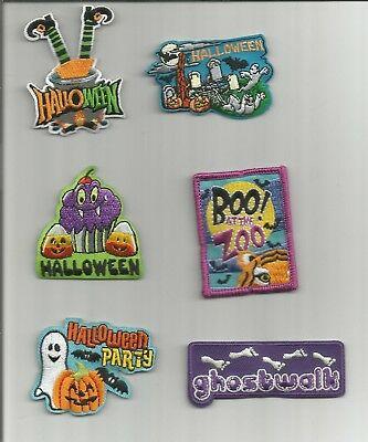 Girl / Boy Scout/Guides Patch/Crest/Badge   HALLOWEEN   (your choice) - Scout Halloween Crafts