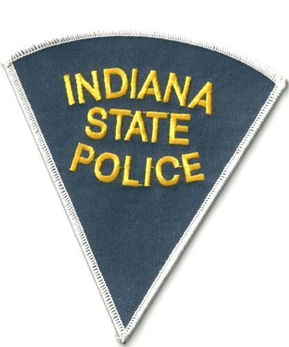 INDIANA STATE POLICE - SHOULDER PATCH - IRON OR SEW-ON PATCH