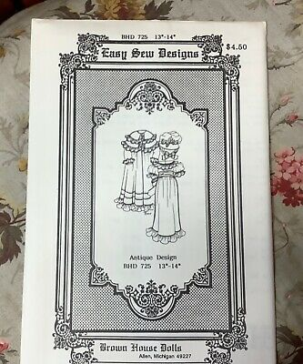 """💐BROWN HOUSE DOLLS #BHD 725. 13/14"""" Antique Design New Free Shipping."""