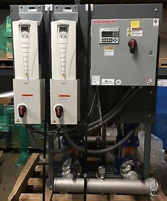 Xylem Vertical Multistage Duplex Water Booster 350 Gpm 63 Psi Grundfos Cr32