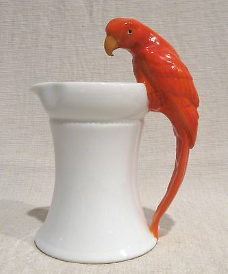 Royal Bayreuth Pitcher with Parrot Handle
