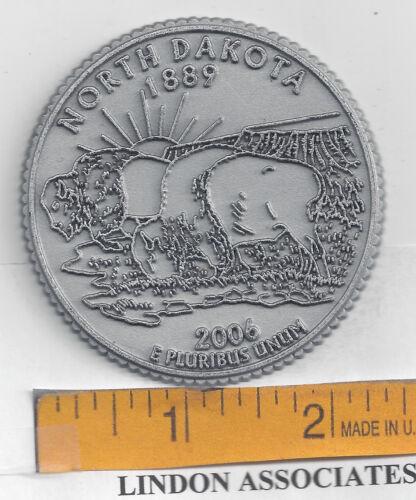 NORTH DAKOTA    Souvenir State Quarter Fridge Magnet  NEW