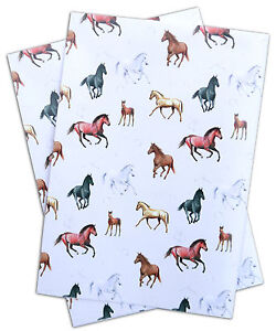 Horse and foal Gift Wrapping Paper; 2 sheets