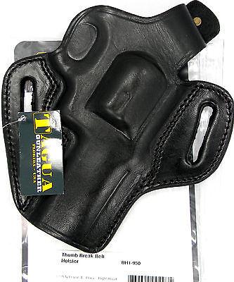 TAGUA BLACK THUMB BREAK OWB BELT HOLSTER for S&W MODEL 627 4
