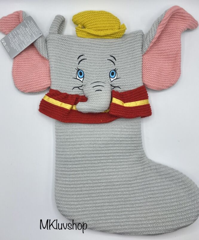 Disney Parks Exclusive 2020 DUMBO Christmas Holiday Knit Stocking Decoration NWT
