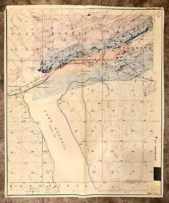 1864 MI MAP ONTONAGON OSCEOLA OSCODA OTSEGO OTTAWA PRESQUE ISLE COUNTY MICHIGAN