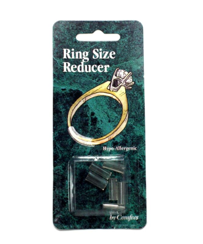 COMFEES Hypoallergenic Ring Size Reducers 6-Pack Clear Plastic Ring Guards