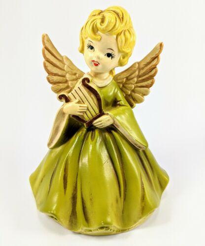 Xmas Vintage 1950's Ceramic Christmas Angel Figurine Tree Topper