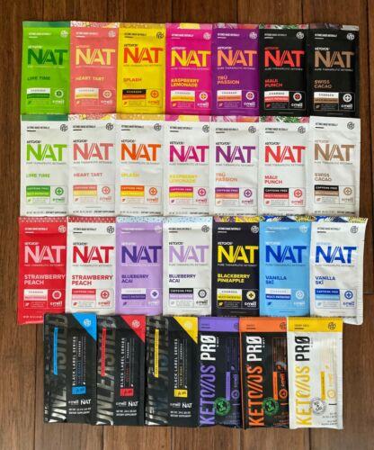PRUVIT Keto OS NAT OS PRO ketones 5 Packet lot Various Flavors * FREE SHIPPING *