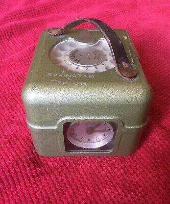 Racing Pigeon Vintage Timing Clock Brown Leather Handle