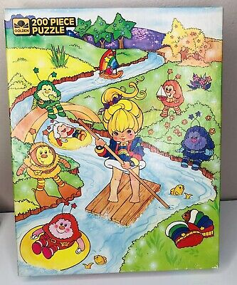 Vintage Rainbow Brite jigsaw Puzzle Golden 200 piece 1983 Hallmark COMPLETE