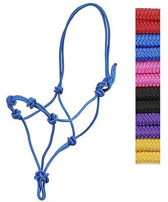 Great HOT PINK Color Horse Size Rope Halter Knotted Nose New Horse Tack