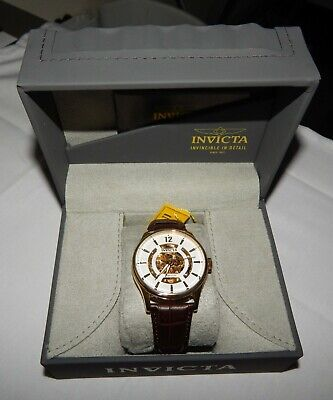Invicta Objet D Art 44mm Automatic White Skeleton Dial Men's Watch NEW 22595