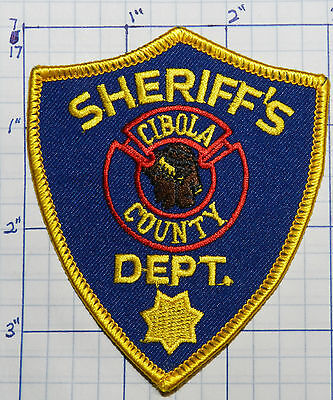 """NEW MEXICO, CIBOLA COUNTY SHERIFF'S DEPT BLUE 3.5"""" PATCH"""