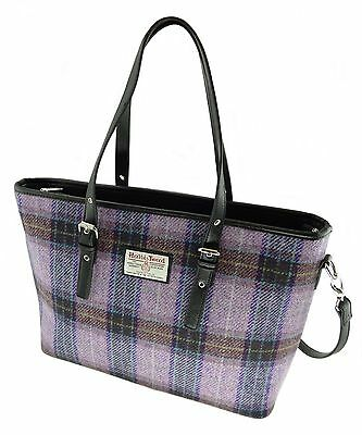 Ladies Authentic Harris Tweed Patch Bag Purple LB1022 COL 56