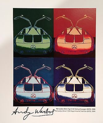 ANDY WARHOL HAND SIGNED SIGNATURE * CARS SERIES * PRINT  W/ C.O.A.