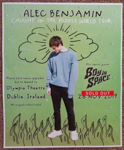 ALEC BENJAMIN 2019 Gig POSTER Dublin Ireland Concert