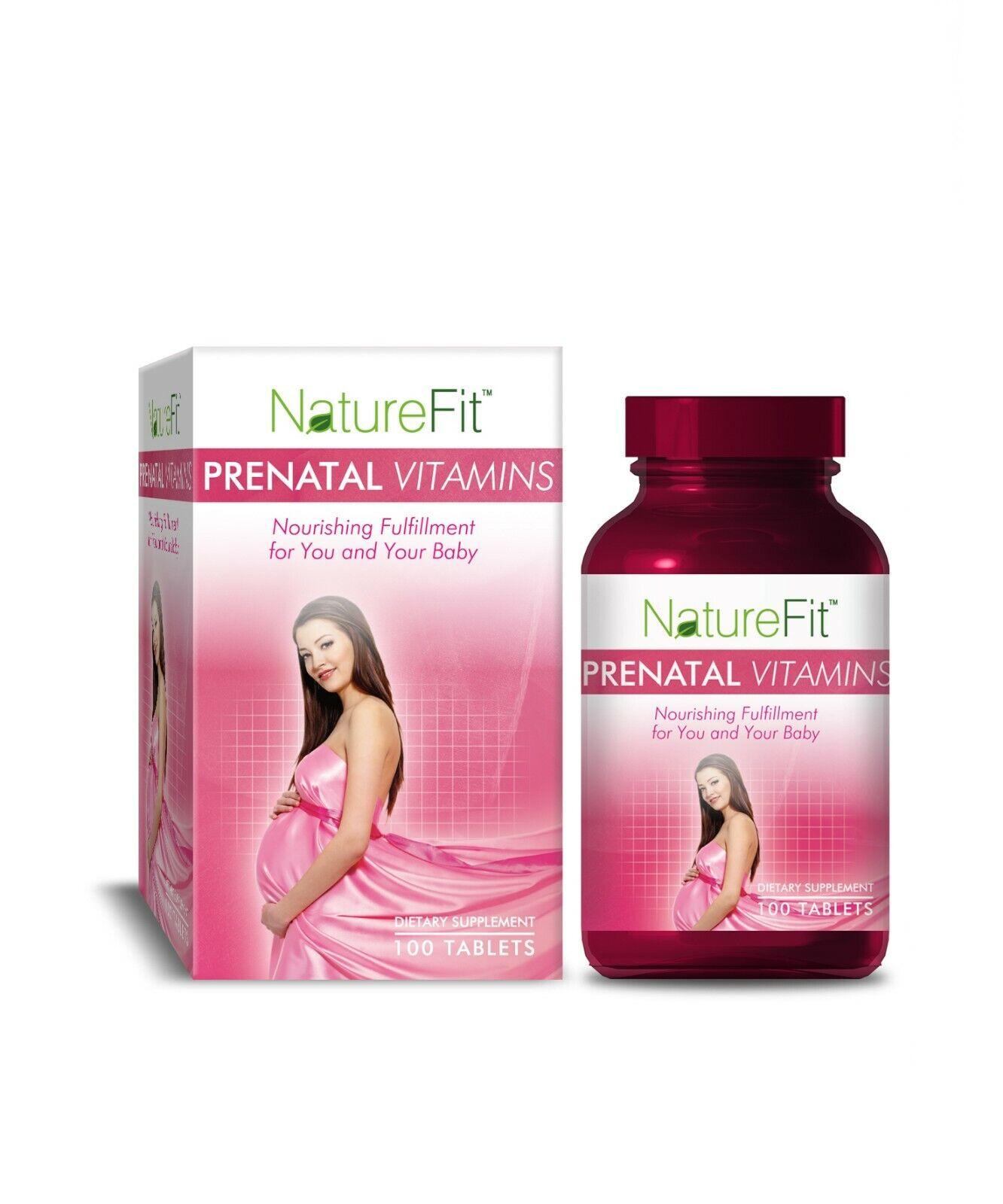 NatureFit Prenatal Vitamins 100 Tablets