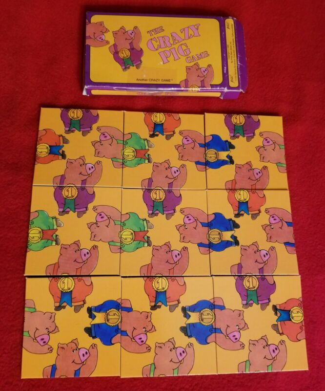 1989 The Crazy Pig Puzzle Game - Great Condition