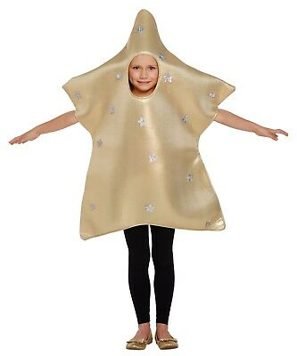 Christmas Costum (Children's Star Christmas Nativity Fancy Dress Up Tabard Costume Ages 4-12yrs)