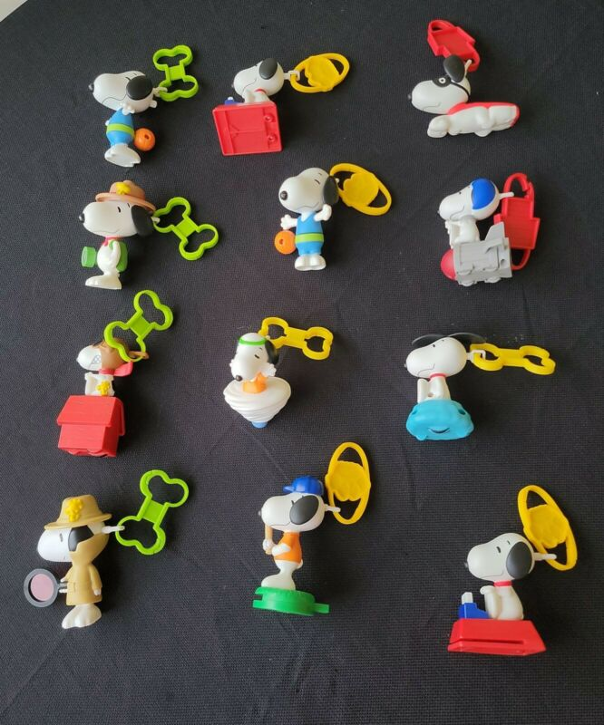 Peanuts Snoopy McDonalds Happy Meal Toys 12 Pc Lot Snoopy