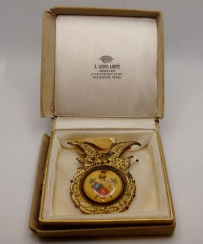 Knights of Pythias Patriotic Brooch Medal from Galveston Texas