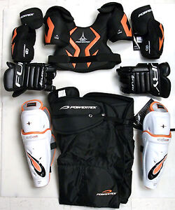 New jr junior large protective ice hockey equipment set