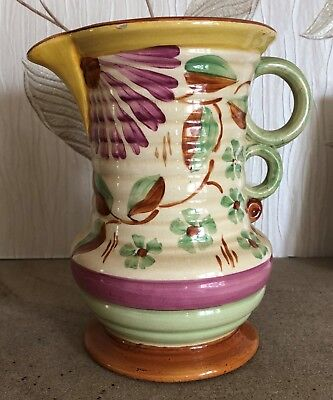 WADE HEATH ART DECO FLOWER VASE JUG MODEL 113 FAIR CONDITION for sale  Shipping to Ireland