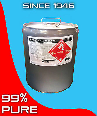 Isopropyl Alcohol 99 5 Gallon Solvent Biodiesel Isopropanol
