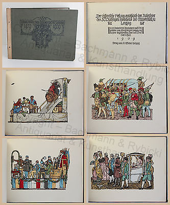 500. Jubelfeier der Universität Leipzig Historischer Festzug 1909 Festschrift xz
