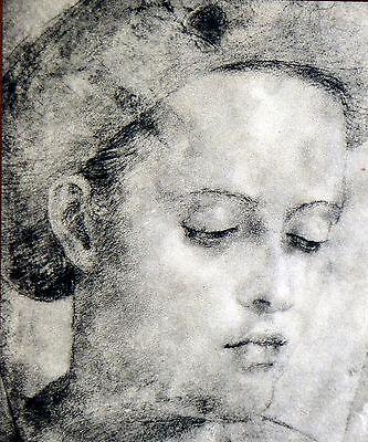Uffizi Gallery - Rare c.1500 Portrait of Girl~Uffizi Gallery Print~Giovanni Bazzi~Il Sodoma~d1549