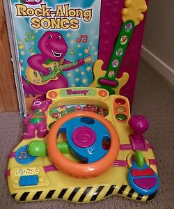 Barney Toy Driver's console which speaks & free Barney song book Werrington Penrith Area Preview